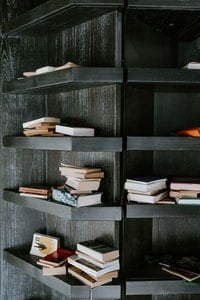Bookshelf with some books on it