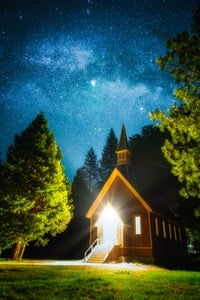 Holy church in the woods