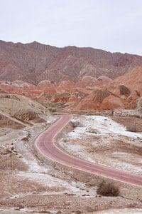 Wavy mountain road